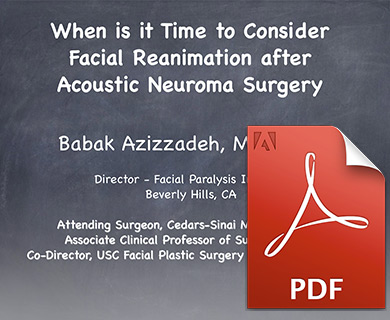 facial reanimation ppt