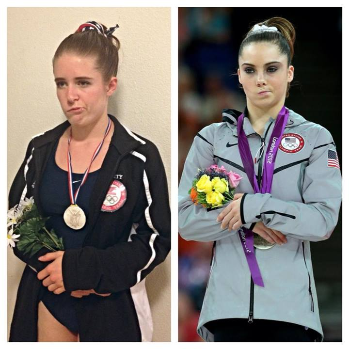 Gymnastics Fan with Bell's Palsy Dresses Up as McKayla Maroney for Halloween