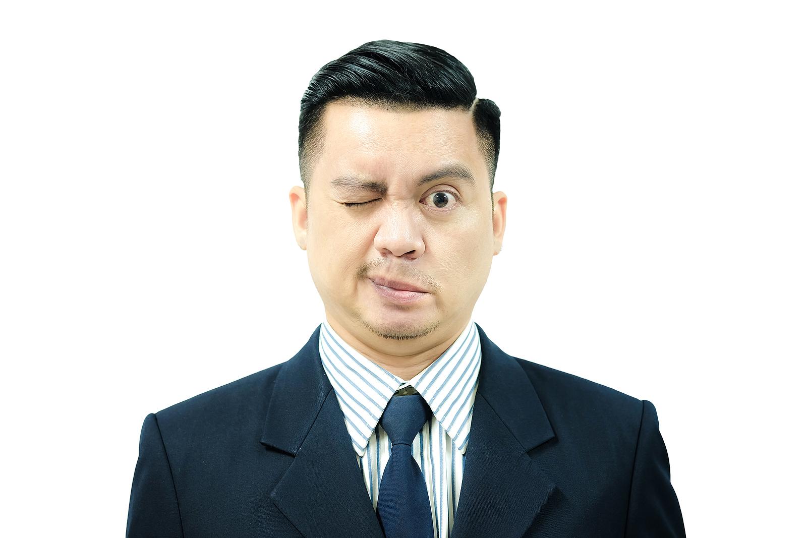 Asian Man with Facial Paralysis